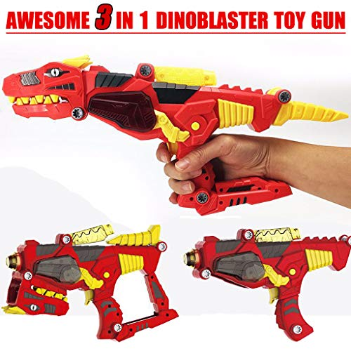 Dinobots Transformer Super Dino Charge Morpher with Exciting Lights and Lively Sound Effects| T-Rex Super Charge Morpher | Dinobots Super Transformation Set with Electric Drill- Red -