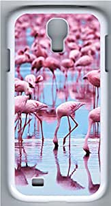 Samsung Galaxy S4 I9500 Cases & Covers - Pink Flamingos Custom PC Soft Case Cover Protector for Samsung Galaxy S4 I9500 - White