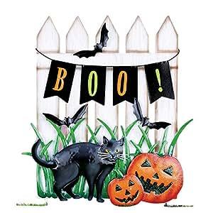 Valla de Halloween escena jardín juego