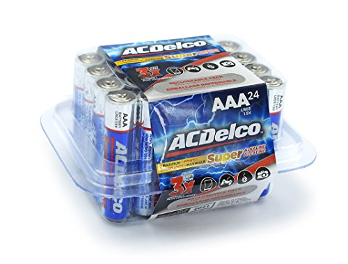 Price comparison product image ACDelco AAA Batteries, Super Alkaline AAA Battery, High Performance, 24 Count Pack