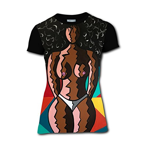 Model Costumes For Tweens (Women Tee Shirt T-Shirt Custom Afro Big Hair Black Model Slim Hawaii Tops L)