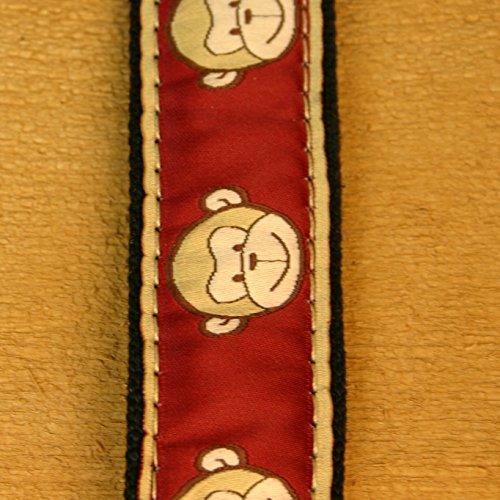 3/4'' Garnet Monkeys Small Collar Small Hemp Collar by The Good Dog Company