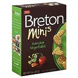 Breton Crackers Minis Garden Vegetable 8 Ounces (Case of 12)