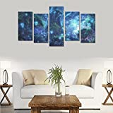 Hotel or Spa Wall Decorations Fantasy Magical Forest Art Painting Rooms Wall Paintings Living Room Canvas Prints Fashion Personalities Decor 5 Piece Canvas painting (No Frame)