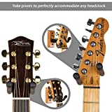 String Swing Guitar Hanger ? Holder for Electric Acoustic and Bass Guitars ? Stand Accessories for Home or Studio - Musical Instruments Safe without Hard Cases - Cherry Hardwood Wall Mount 2 Pack