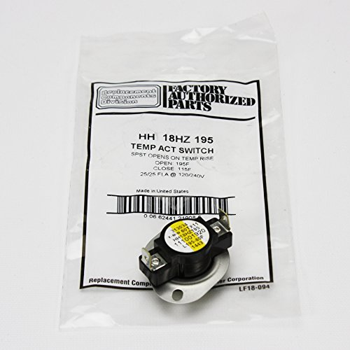 HH18HZ195 - Carrier OEM Furnace Limit Switch L195-80 by OEM Replm for Carrier