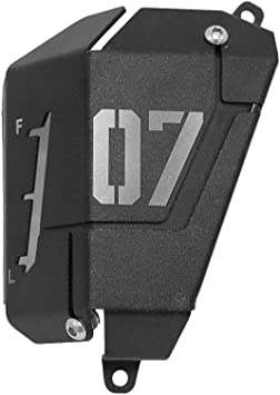 Amazon Com Coolant Reservoir Cover Kkmoon Mt07 Fz07 Coolant Recovery Tank Shielding Cover For Yamaha Mt 07 Fz 07 2014 2019 Black Automotive