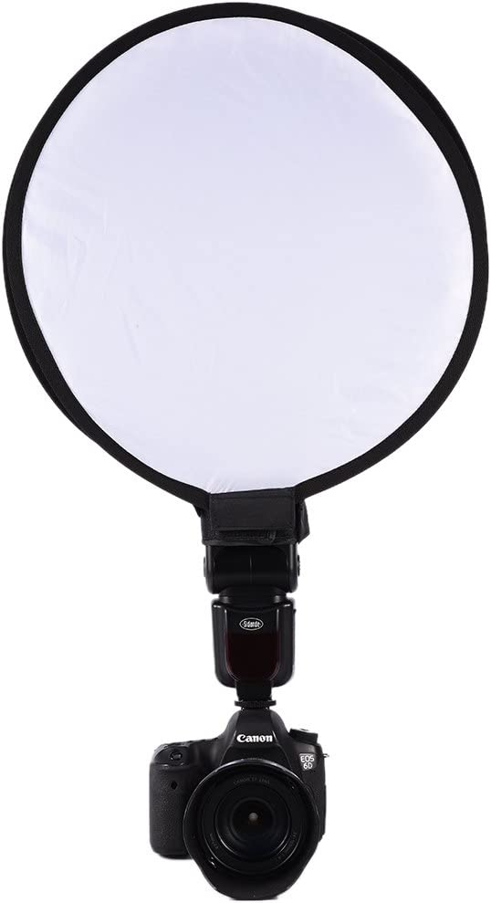 Portable Round Softbox 40cm Mini Round Beauty Dish Speedlite Flash Diffuser Softbox Phototgraphy Accessories for Nikon Canon Sony
