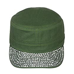 Jewel Visor Bling Military Style Cap