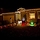 Los Angeles L A Shippment Xmas Christmas Ornaments LED Light, Outdoor Snowman Father Yard Party Holiday Decorations, Xmas Santa Statue Yard Decor Statue Led Lighted Effect with free 3 AAA Batterys