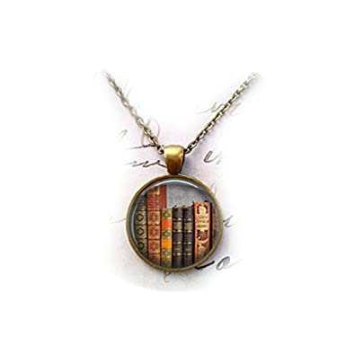 4e2ec3d4d85 Library Book Necklace - Librarian Pendant - Gifts for Readers - Bibliophile  Necklace  Amazon.co.uk  Jewellery