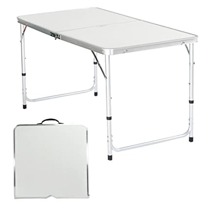 amazon com eshion 4ft portable folding table camping banquet