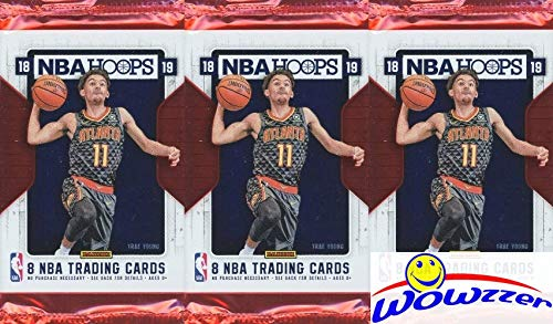2018/19 Panini Hoops NBA Basketball Collection of 3 Factory Sealed HOBBY Packs with 24 Cards! Loaded with RCS & INSERTS! Look for RC & Autos of Deandre Ayton, Luka Doncic, Trae Young & More! WOWZZER!