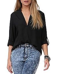 dde14f075f621 Amazon.com  Under  25 - Plus Size   Blouses   Button-Down Shirts ...