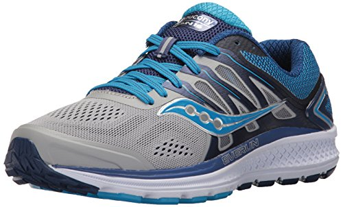 Saucony Women's Omni 16 Running Shoe Grey Blue 8 Narrow US