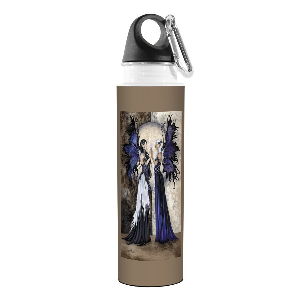 Tree-Free Greetings VB47595 Amy Brown Fantasy Artful Traveler Stainless Water Bottle Two Sisters Fairies 18-Ounce