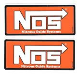 NOS Nitrous Oxide Racing Decals Stickers 5-1/2 Inches Long Size Set of 2
