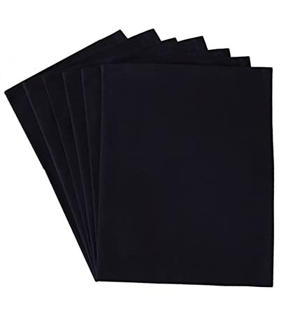 Blank kitchen towels / dish towels for embroidery / screen printing - 100%  cotton (6 pack) (6, Black)