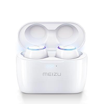 (Meizu POP) Auriculares Deportivos Bluetooth Completamente Inalámbricos, Auriculares con Drivers de Grafeno a Prueba de Sudor con Inteligencia Artificial y Aislamiento de Sonido, 36 horas de Duración de la Bater
