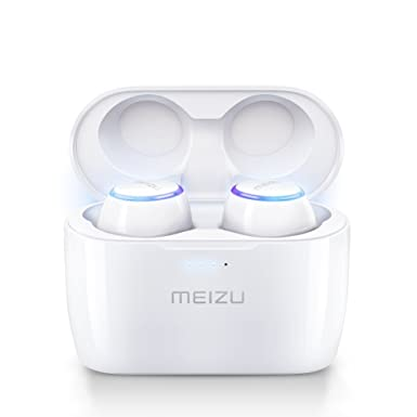 Meizu POP True Wireless Earphones Noise Cancelling Bluetooth Wireless  Earbuds15H Playtime With Wireless Charger Portable Wireless Charging  Case(White)