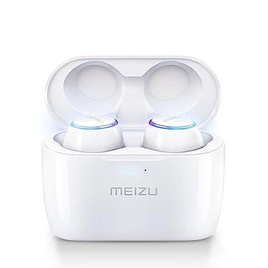 Meizu POP True Wireless Earphones Noise Cancelling Bluetooth Wireless  Earbuds15H Playtime With Wireless Charger Portable Wireless Charging  Case(White)