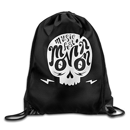 Logo Beam Flashlight - Skull And Light Logo Beam Port Shoulders Drawstring Backpack