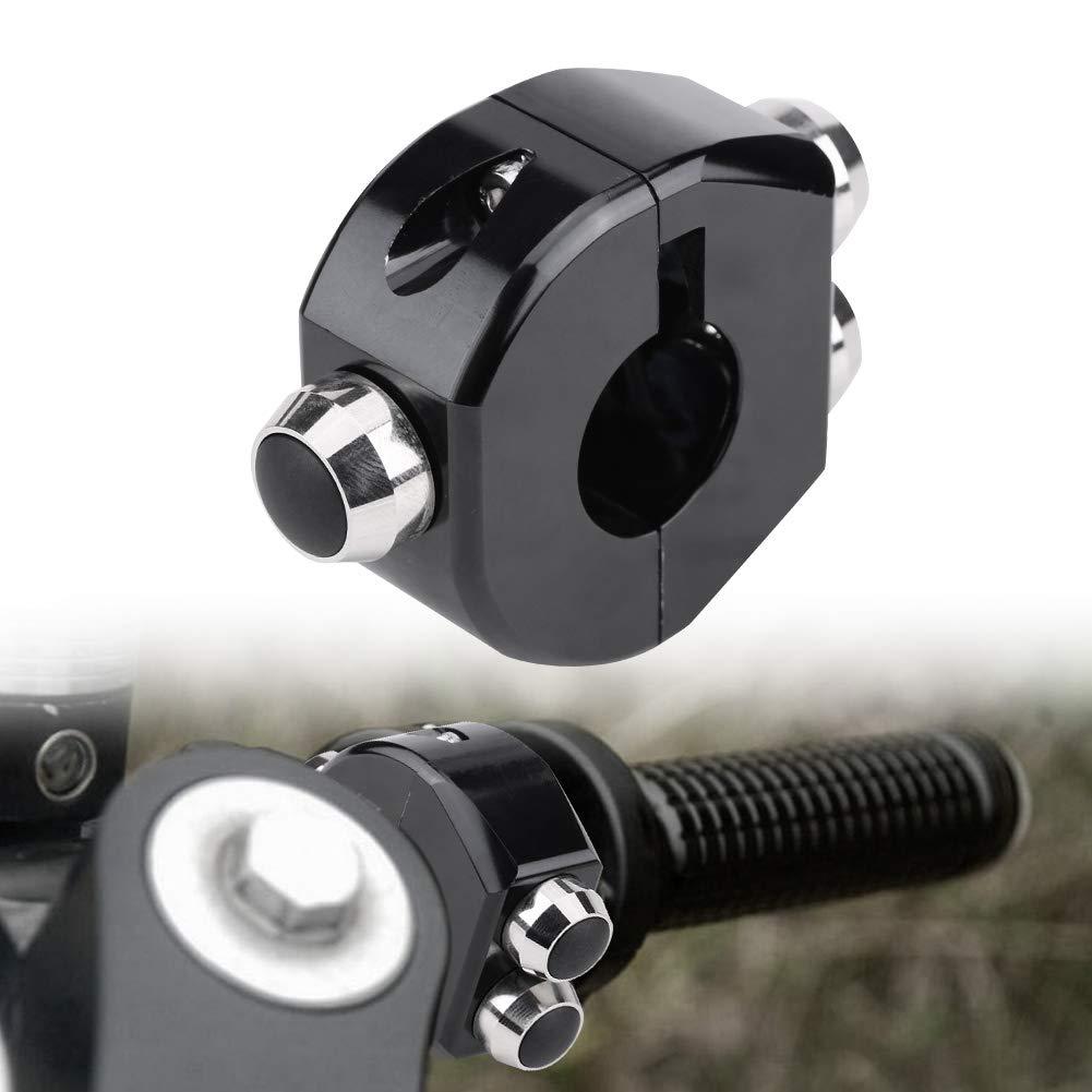 Interrupteur de guidon de moto bouton de r/éinitialisation 22 mm CNC en alliage daluminium pour moto