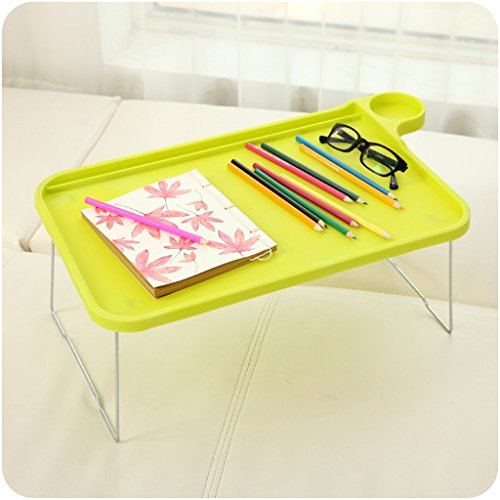 GFL Notebook Laptop Table Bed With Folding Foldable Small Computer Desk Computer Tables (Color : Yellow) by GFL