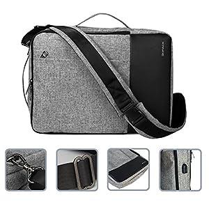Kopack 3 in 1 Laptop Backpack with Usb Port Convertible Laptop Briefcase Water Resistant Shoulder Bag Fit 15.6 inch Grey