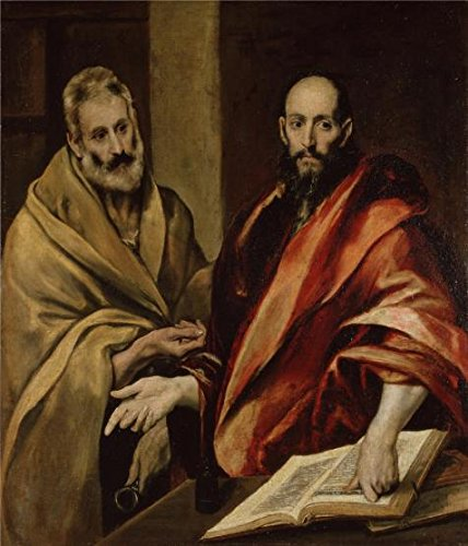 High Quality Polyster Canvas ,the Replica Art DecorativeCanvas Prints Of Oil Painting 'Apostles Peter And Paul,1592 By El Greco', 18x21 Inch / 46x53 Cm Is Best For Wall Art Decoration And Home Artwork And Gifts 21 Gator Spring