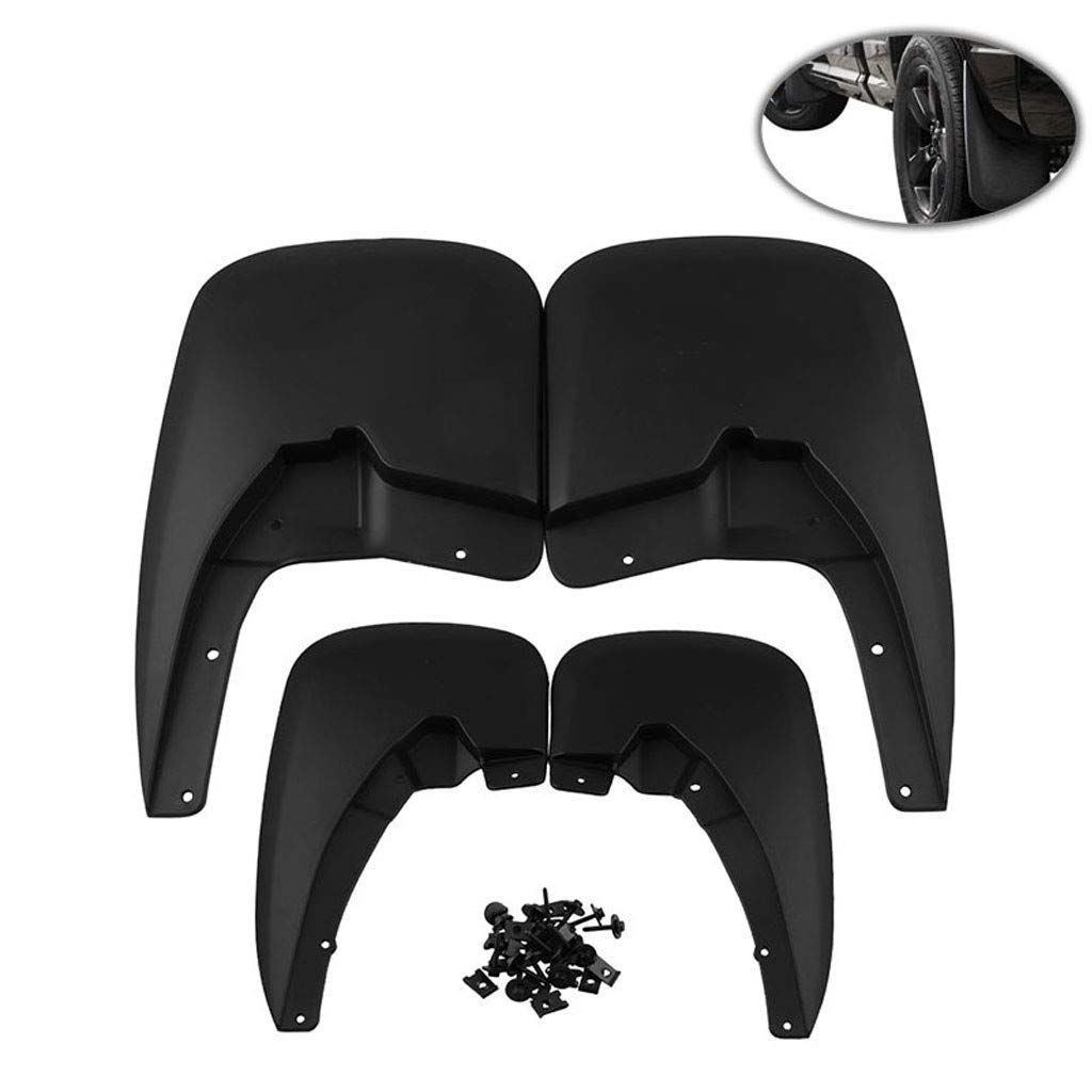Brand New Car Mud Guards SplashGuards Molded 4 Piece Front And Rear, SMOXX Car Accessories Replacement Part, Pro Premium Easy Install