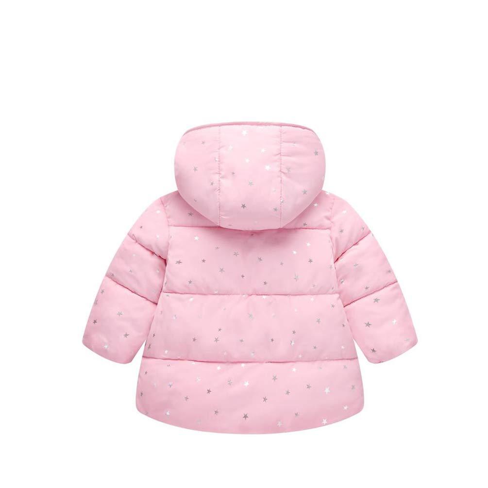 JIANLANPTT Childrens Outerwear Toddler Boy Girls Winter Warm Hooded Coat Jacket