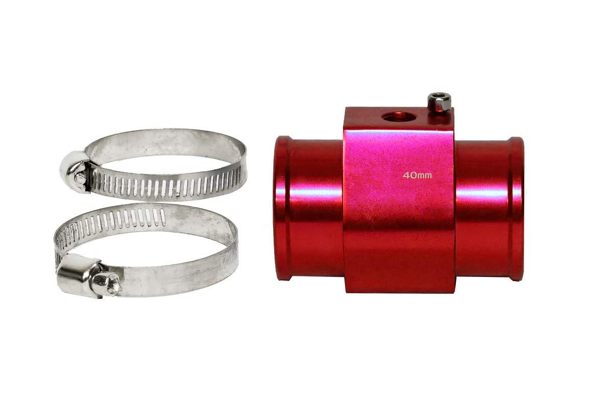 Blue, 38mm CarXX Water Temperature Sensor Adapter Temperature Gauge Radiator Hose Adapter