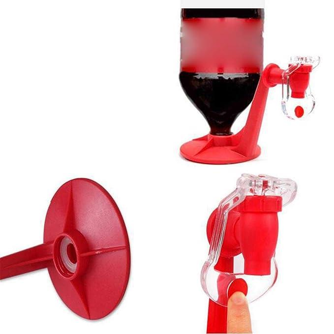Pegcdu Botella Coca-Cola Splash Partido Cabeza del dragón Prevención invertido Dispensador de Agua Suministros de la Mano del Interruptor de presión Drinks ...