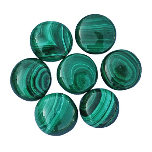 3mm 15 Pcs Lot Of Fabulous Green Malachite Round Shape Cabochon Natural Gemstone For Making Jewellery (Oval Malachite)