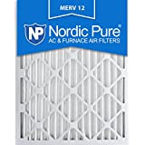 Nordic Pure 20x25x2M12-3 MERV 12 Pleated Air Condition Furnace Filter, Box of 3