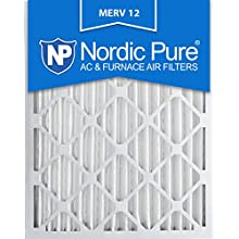 Nordic Pure 20x24x2M12-3 MERV 12 Pleated Air Condition Furnace Filter, Box of 3