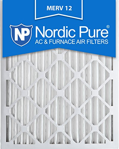 Nordic Pure 16x25x2M12-3 MERV 12 Pleated Air Condition Furnace Filter, Box of 3 by Nordic Pure
