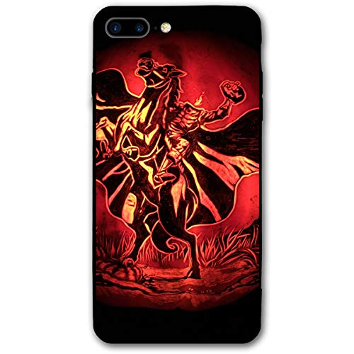 Halloween Headless Horseman Painting Wall Clip Iphone 8 Plus Case, IPhone 7 Plus Case, Ultra Thin Lightweight Cover Shell, Anti Scratch Durable, Shock Absorb Bumper Environmental Protection Case Cover