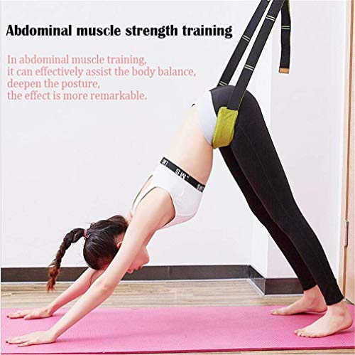 Yoga Fitness Stretching Strap Back Bend Assist Trainer Improve Leg Waist Back
