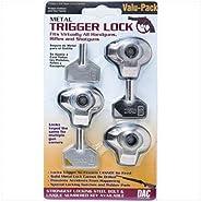 Gunmaster 3pk Metal Trigger Locks (Keyed Alike)