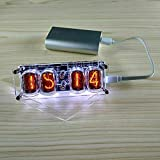 Vaorwne 4-Bit Glow Tube Clock Nixie Clock Led