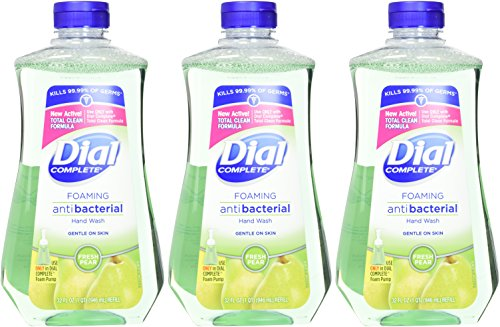 Dial Complete Antibacterial Foaming Hand Soap Refill, Fresh Pear, 32 Fluid Ounces (Pack of 3) by Dial (Image #2)