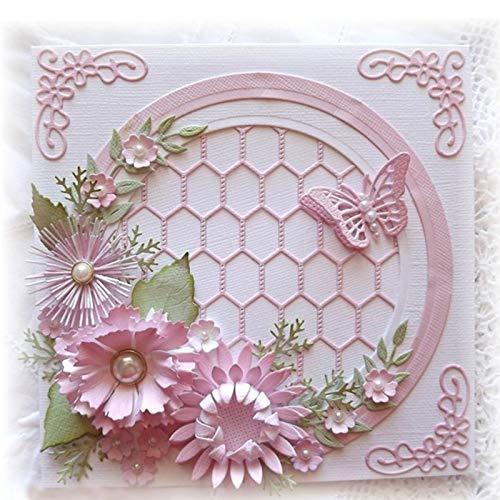 Cutting Dies Metal Steel Dies Cutting Die Cut Diy Decorative Embossing Scrapbooking Tree 9pcs Leaves Flower Craft Stamps Card Stencil