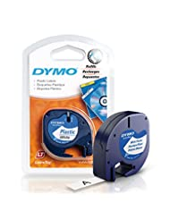 DYMO LetraTag Labeling Tape for LetraTag Label Makers, Black ...