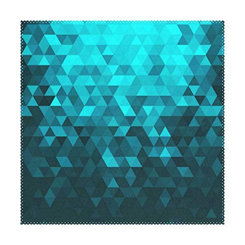 LoveBea Placemats Turquoise Diamond Pattern Square Placemats for Dining Table Kids Table Mat Set of 4