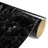 Adhesive Films Black Marble High Gloss - Economical Alternative to rehabilitate Your countertops, backsplash and cabinets (80''