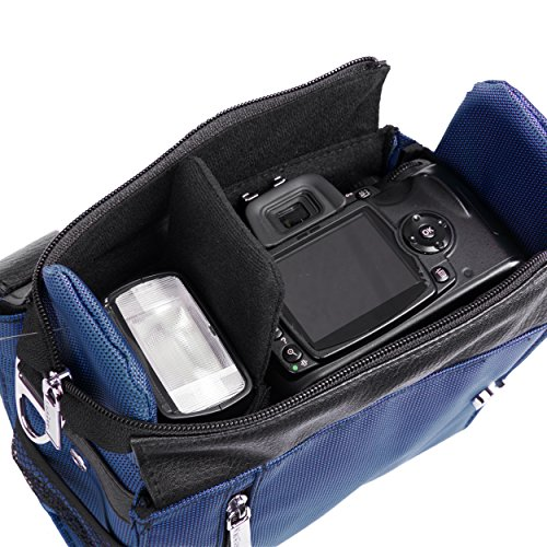 Accessories SLR Lens Blue handBag DSLR Canon Rebel Camcorder Shoulder Fits Case EOS Fashion Powershot ITwPU
