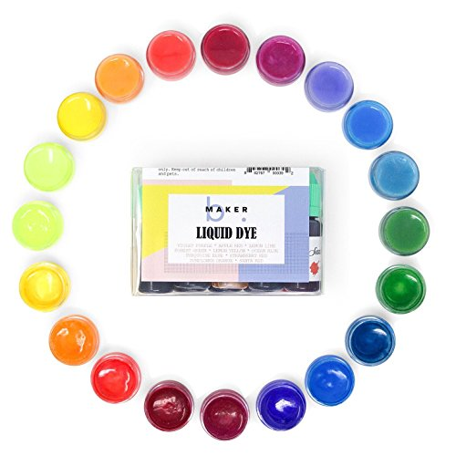bMAKER Bath Bomb Colorants - Easily Dissolve in Water, No Stain. Many Uses - Cold Process Soap or Melt and Pour, Play-do, Gel - 10 Beautiful Colors. 10 ml per Bottle. Friendly.