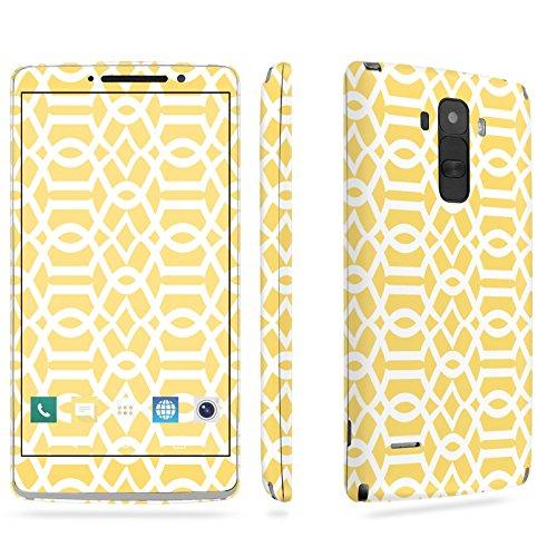 LG [G Stylo] Phone Skin - [SkinGuardz] Full Body Scratch Proof Vinyl Decal Sticker with [WallPaper] - [Yellow Block] for LG [G Stylo] [LS770 H631] -  SF-LGLS770-T5-MA-X425